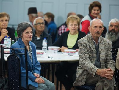 Attendees at an information session about gambling harm run by the Serbian Community Association of Australia, photo: Paul Jeffers