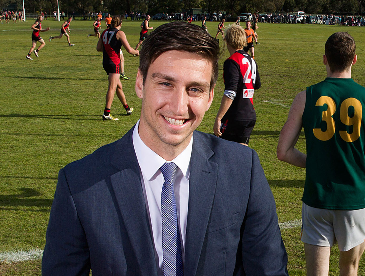 CEO of Southern Football League, David Cannizzo, in the sidelines of a local football game