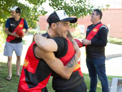 Players from the Bendigo Bombers, part of Foundation partner Reclink's community football league, photo: Red Line Studio