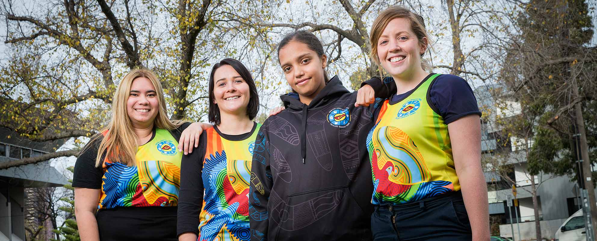 (L to R): Somenah Nasir, Emily Ryan, Vanessa Williams and Lisa Joyce from the Victorian Aboriginal Health Service, photo: Paul Jeffers