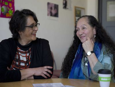 Korina Waitai (right) with counsellor Margaret Ryniker