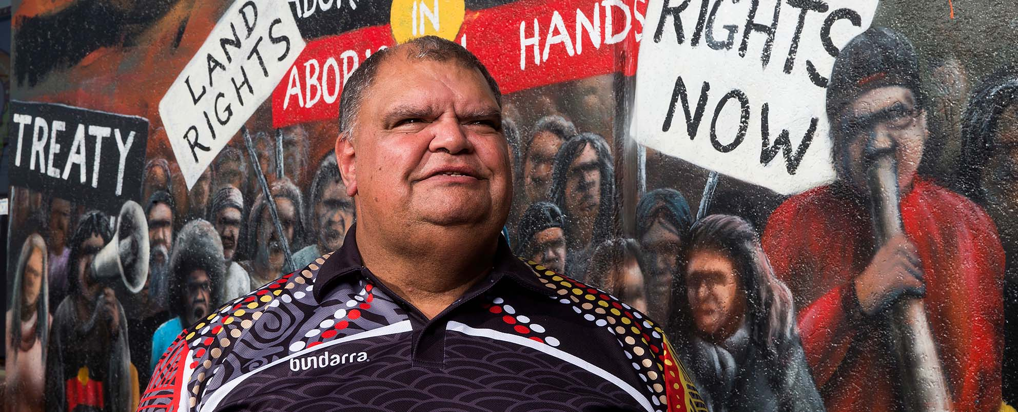 John Egan outside the Victorian Aboriginal Health Service in Preston, photo: Paul Jeffers